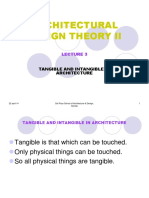Lecture 3 Tangible and Intangible in Architecture