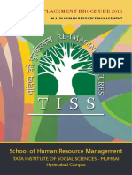 MA HRM TISS Placement Brochure