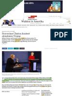Souveräne Clinton blockt atemlosen Trump
