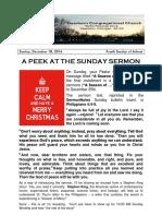 Pastor Bill Kren's Newsletter - 'December 18, 2016