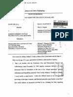 Affidavit of Truth - Promissory Note