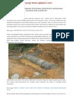 Checklist Pengawasan Pekerjaan Konstruksi Bangunan Saluran Dan Aliran Air