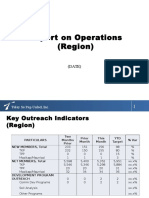 2014 Operations Report as of April 2014