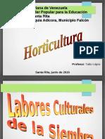 Labores de Cultivo