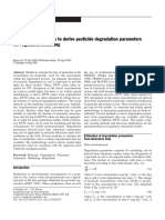 Evalution of Methods to Derive Pesticide Degradation Parameters