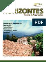 HORIZONTES. REVISTA DE ARQUITECTURA