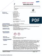 Indulin AA-86 Safety Sheet