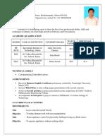 Gowthamraj Resume