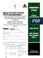 Accelerate Softball Clinic 2016 Flyer