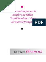 Etude Statistique Oremus Avril2006-1
