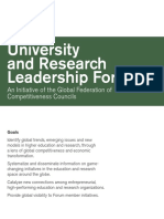 GFCC University and Research Leadership Forum | 2016 Brochure