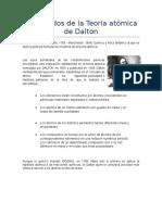 Postulados de La Teoría Atómica de Dalton