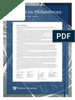 Report on Philanthropy