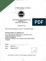 ENGLISH P6 English CA1 2015 Methodist Girls Exam Papers