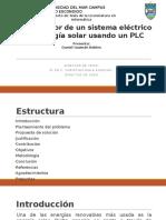 Controlador de Un Sistema Eléctrico de Energía Solar