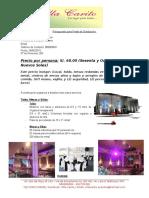 Presupuesto Fiesta de Graduación - Tatiana 200 p.