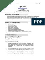 opal resume