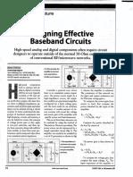 Designing Effective Baseband Circuits