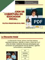 AMPLIACION DE COBERTURA EN EDUCACION INICIAL