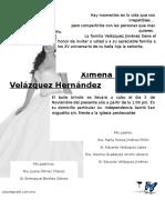 Invitacion Ximena Velázquez Hernández
