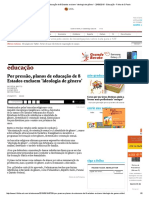 Por Pressão, Planos de Educação de 8 Estados Excluem 'Ideologia de Gênero' - 25-06-2015 - Educação - Folha de S