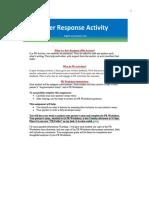Peer Response Activity