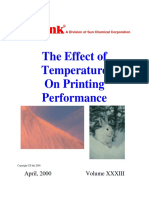 Effect of Temperature on Printing Performance