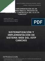 Sistematización y Implementación de Sistema Web Del Istp