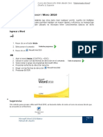 Introducción a Microsoft Word 2010