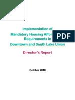 Director's Report - SLU-Downtown MHA Rezones