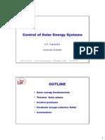 Solar power plant using parabolic trough  model predictive control controlling outlet temperature
