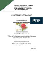 Cuaderno de Trabajo Taller de Lectura y Analisis de Textos Literarios
