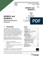 Mcimx31 32bit Mcu 532mhz