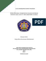 Analisa Transportasi Dalam Manajemen Rantai Pasokan