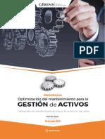 Optimizacion Del Mantenimiento Para La Gestion de Activos 2016