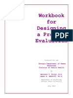 Workbook for Designing a Process Evaluation