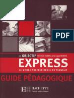 Objectif Express Guide Pedagogique A1 A2