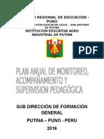 Plan de Monitoreo y Asesoramiento Pedagógico 2016 Ok