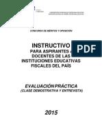 Guía Evaluación Práctica Clase Demostrativa y Entrevista Quiero Ser Maestro 3