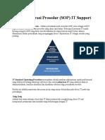 Standar Operasi Prosedur Dan Pengetahuan Tentang IT