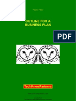Outline For A Business Plan For Financing