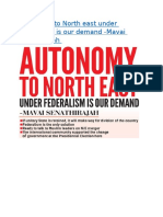 Autonomy to North east under Federalism is our demand.docx