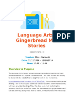 language arts lesson - gingerbread man stories  mon - wed