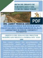 IMPORTANCIA DEL PROCTOR MODIFICADO Y CBR EN OBRAS VIALES