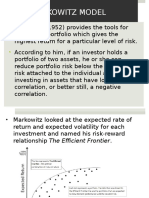 Portfolio Presentaion Markowitz