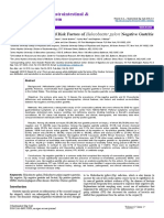 Prevalence and Associated Risk Factors of Helicobacter Pylori Negative Gastritis 2161 069X 1000392