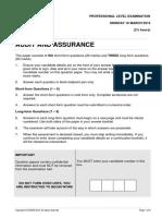 ICAEW Audit Assurance Questions