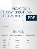 Clasificacion y Caracteristicas de Las Rocas