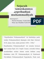 Sejarah Dirumuskannya Kepribadian Muhammadiyah