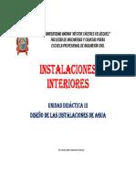 Unidad III Instalaciones Interiores 2016